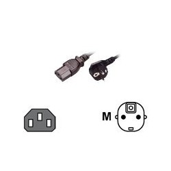 MCL Power Cable Black 2.0m...